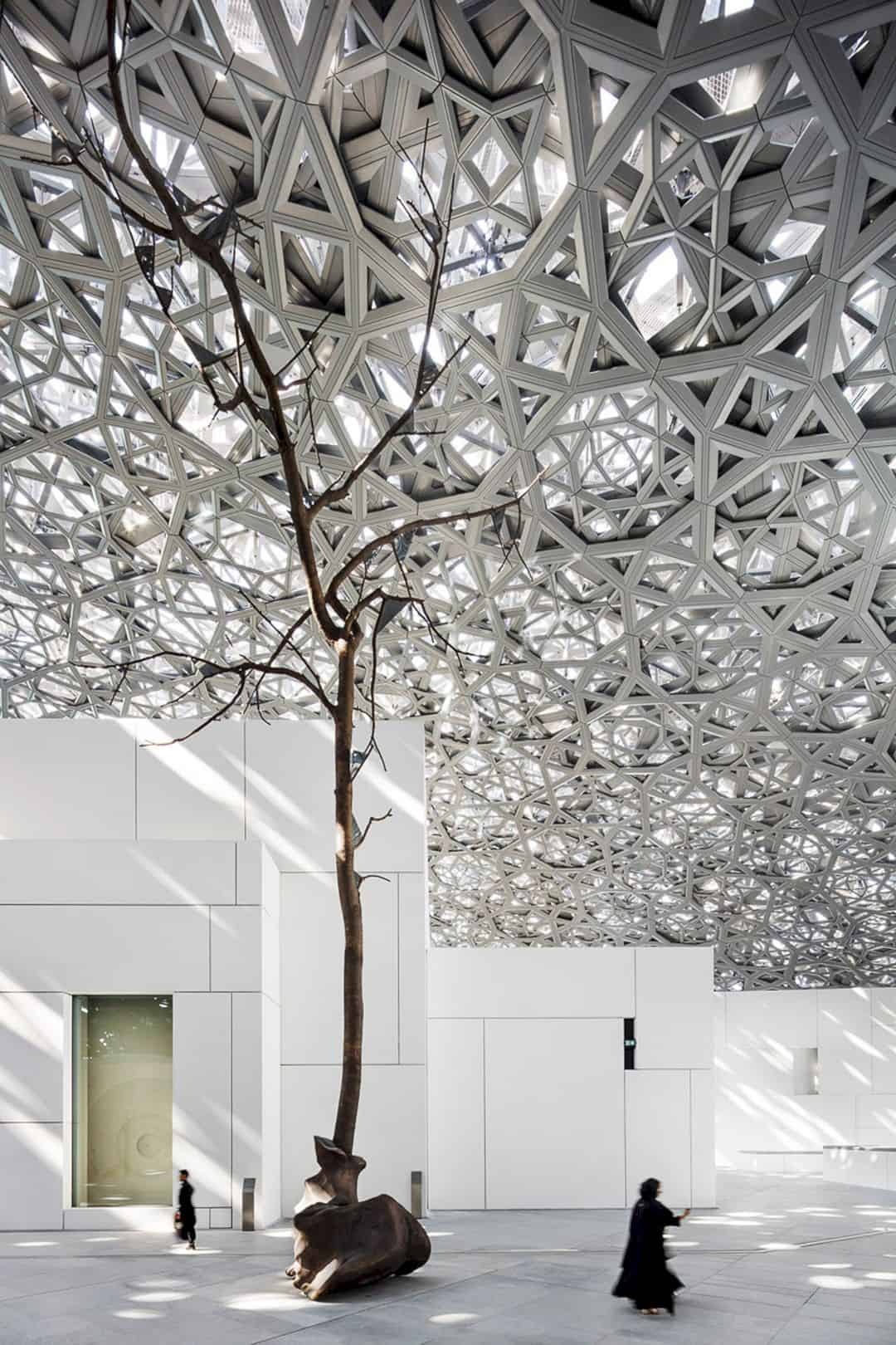 Louvre Abu Dhabi Floating Dome Futurist Architecture