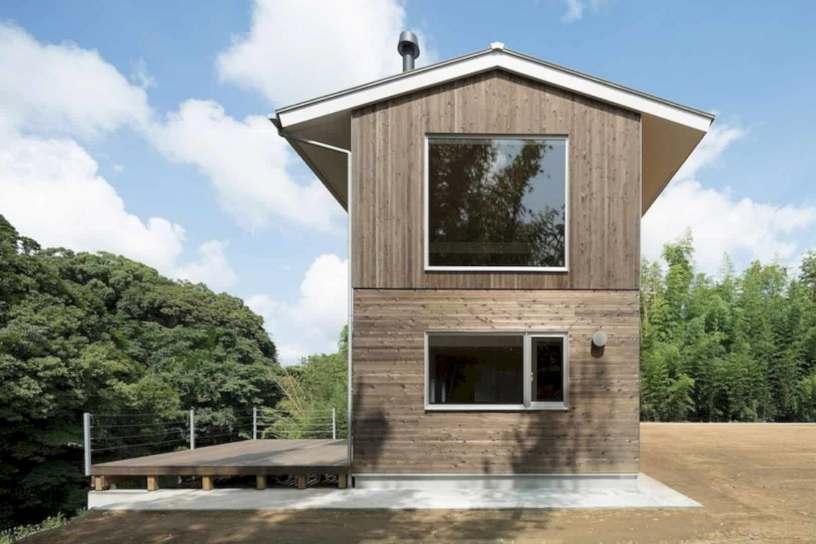 A Wooden House Surrounded By Nature In Chiba 8