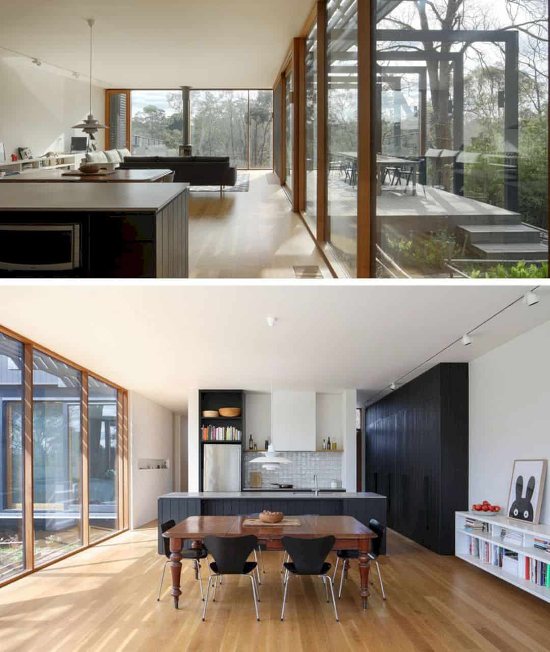 Kitchen Design Melbourne: A Black Wood Extension For A Victorian House In Melbourne