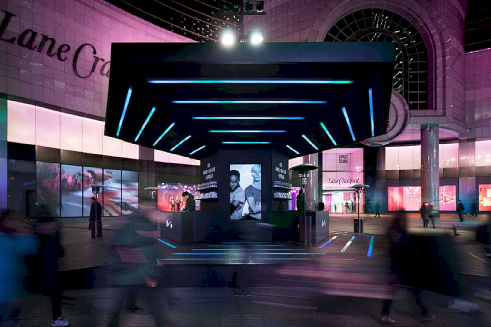 Nike run club a pop up gym with an ethereal and out of for High end event ideas