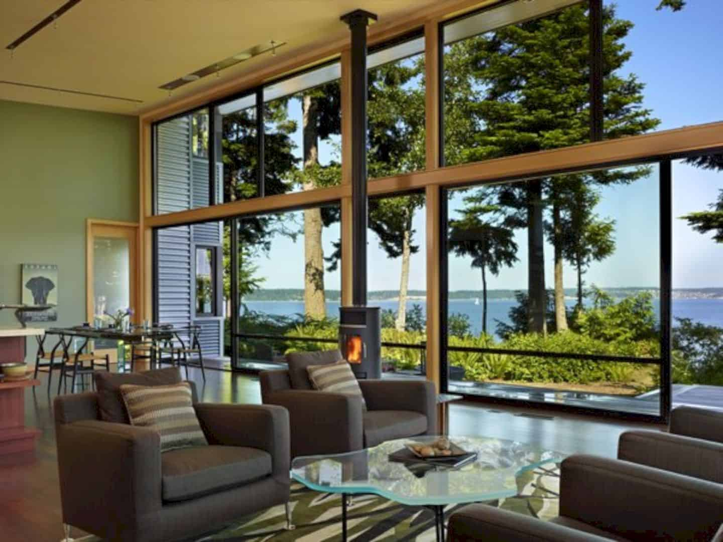 Port Ludlow House A Compact Modern House On A Wooded Waterfront Property 3