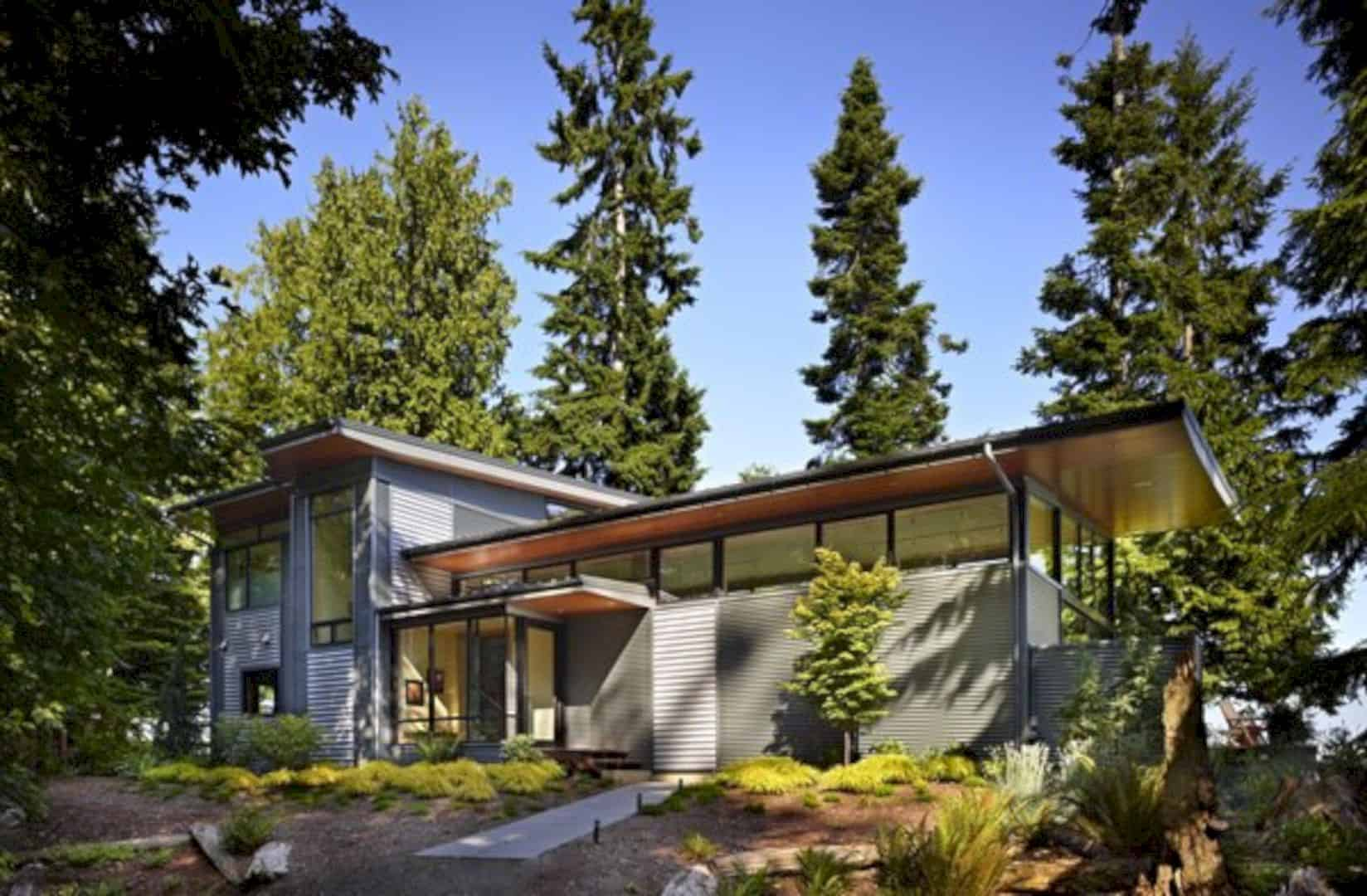 Port Ludlow House A Compact Modern House On A Wooded Waterfront Property 4