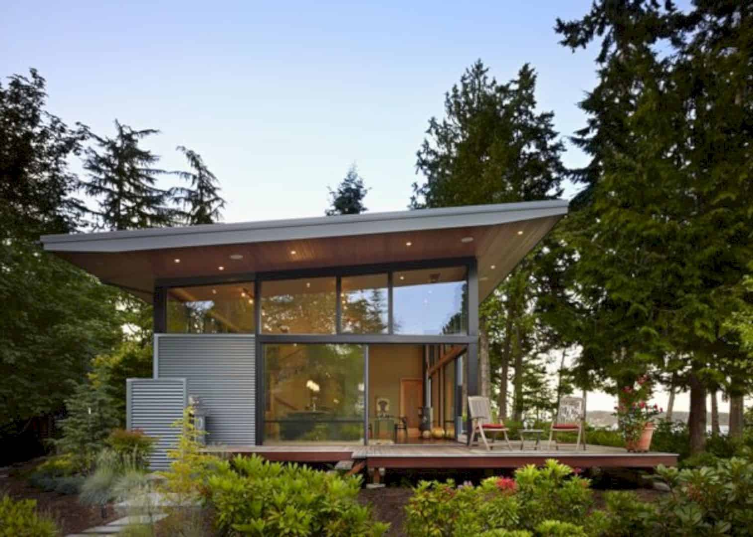 Port Ludlow House A Compact Modern House On A Wooded Waterfront Property 5
