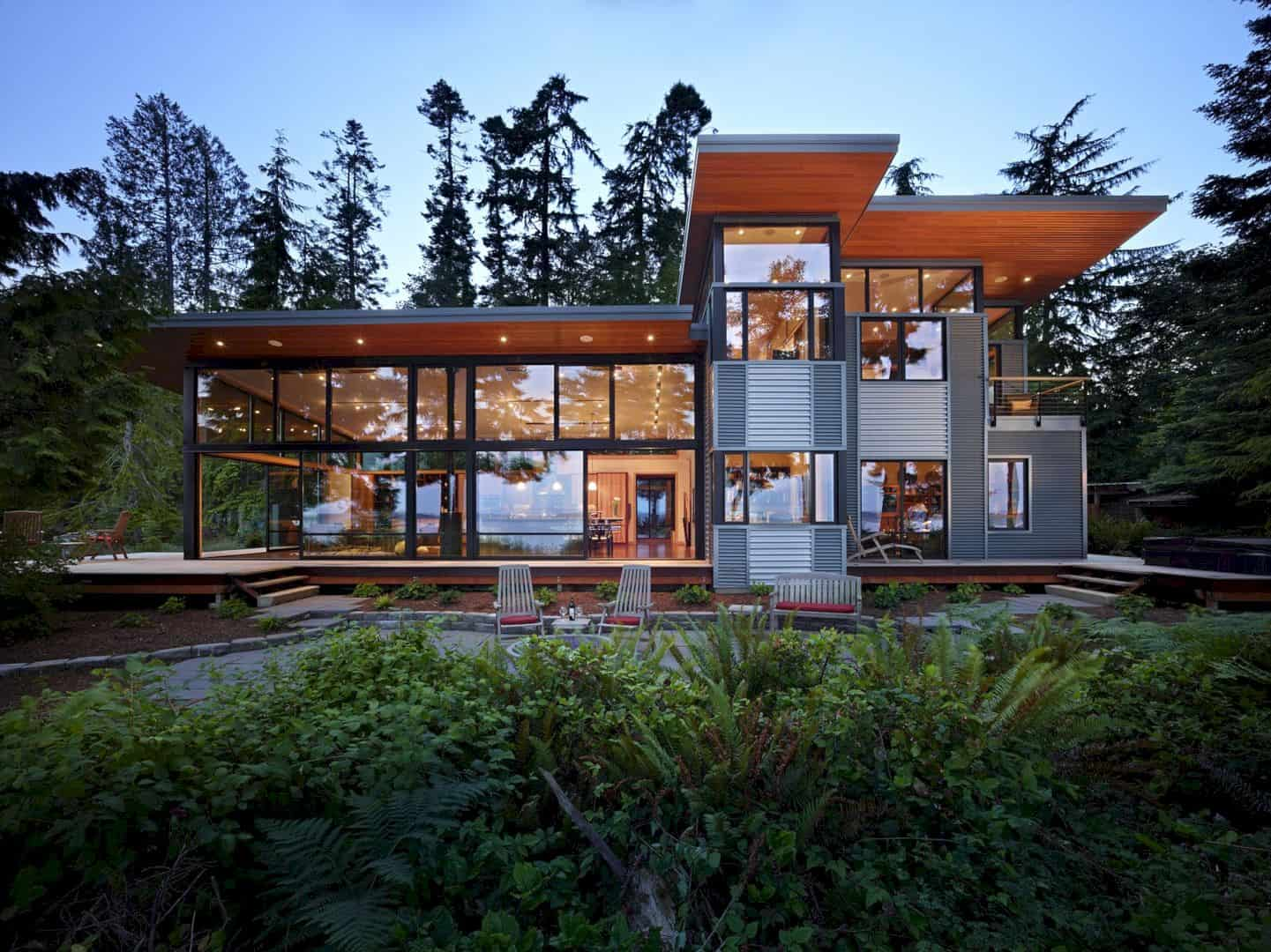 Port Ludlow House A Compact Modern House On A Wooded Waterfront Property 6