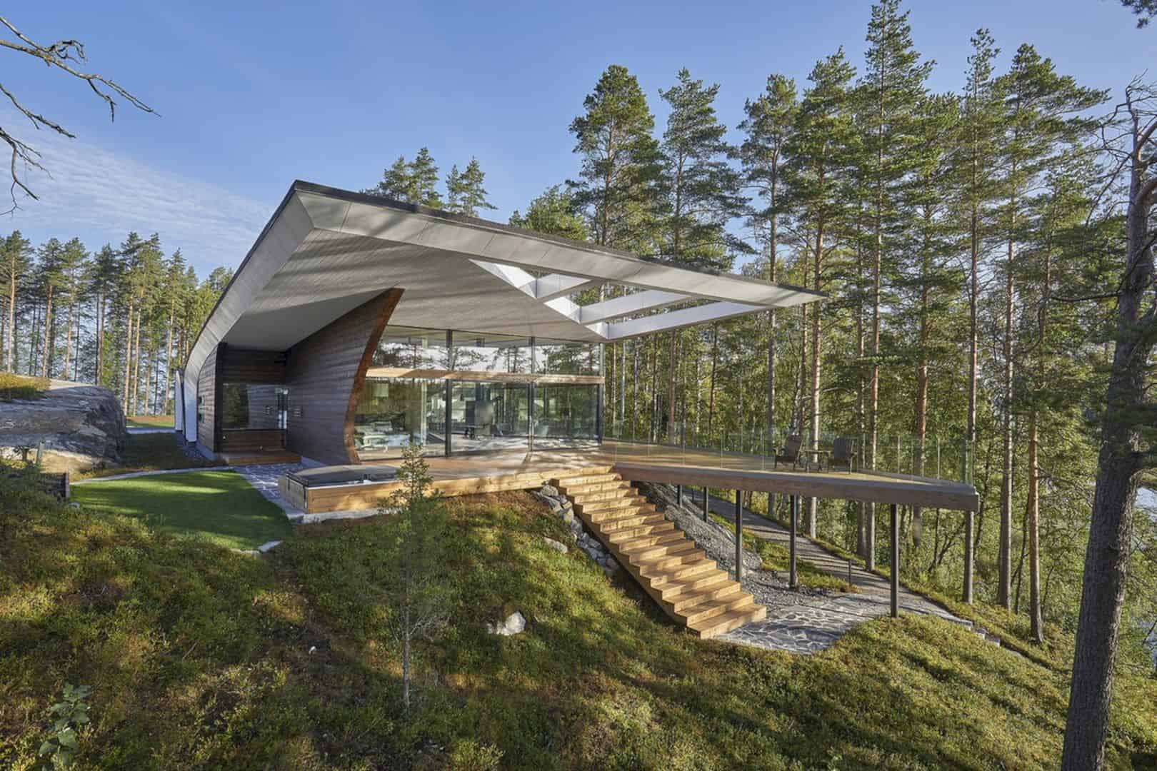 The Wave House A New Generation Log Home In Finland 7