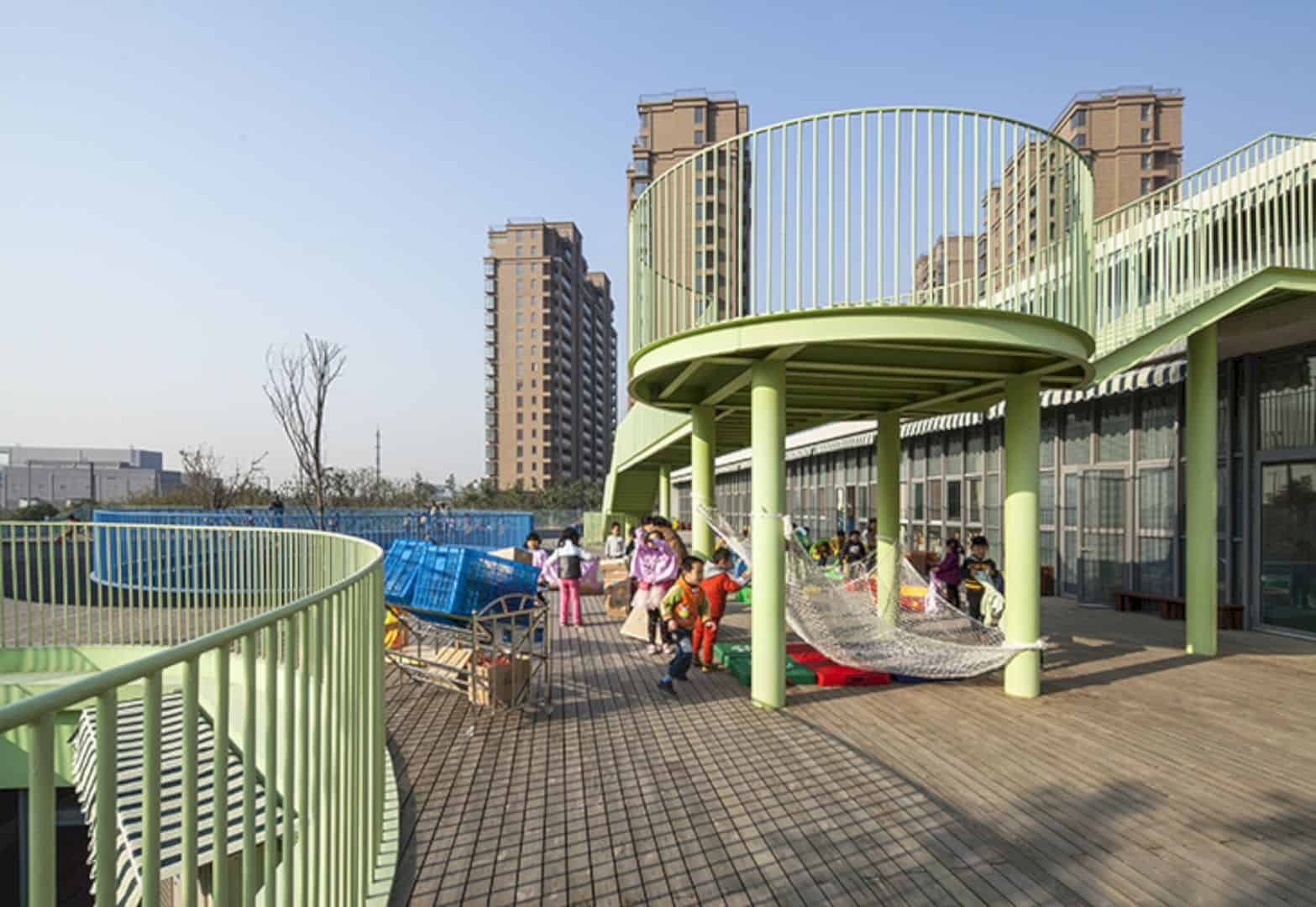 Shuangding Road Public Kindergarten: Modern Kindergarten with Innovative Spaces