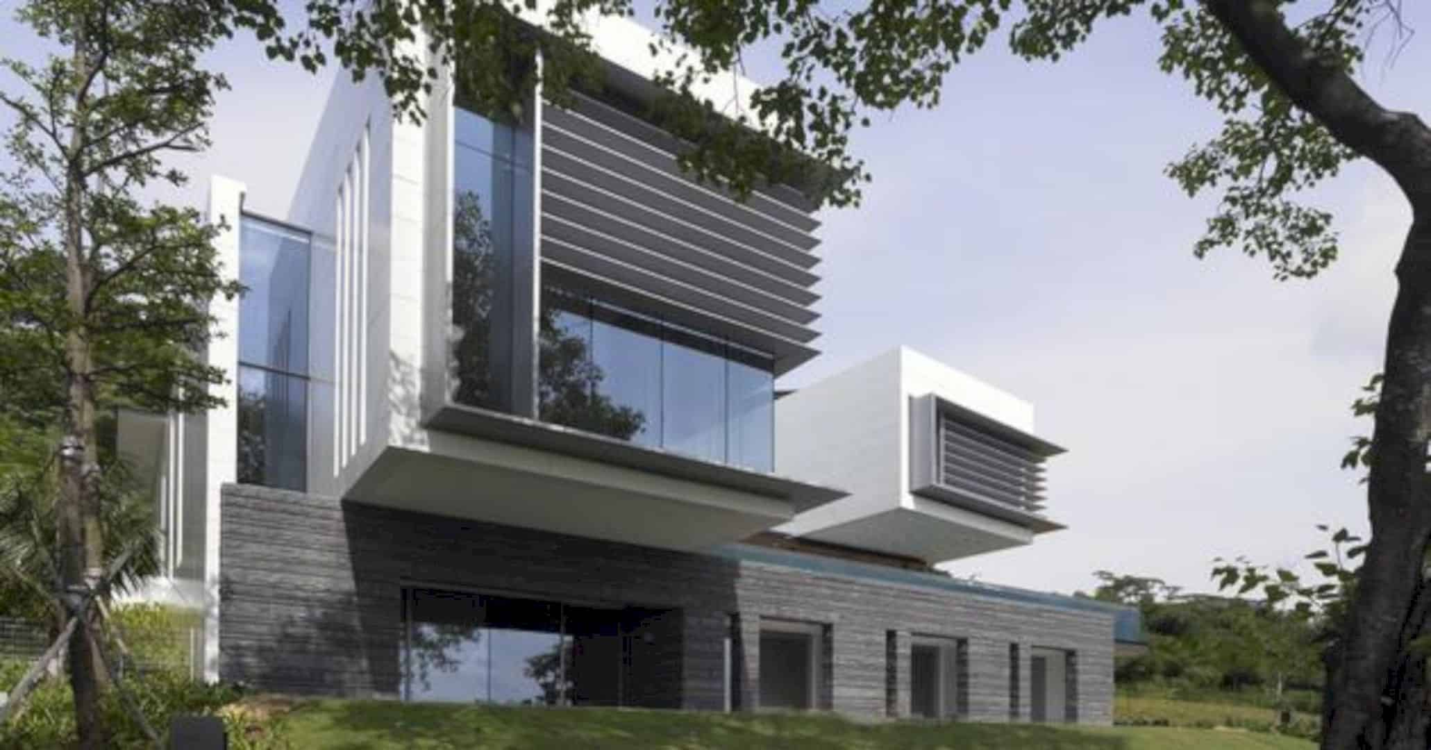 Lakeshore View House A Modern Two Story Home With Suspended Pool 3