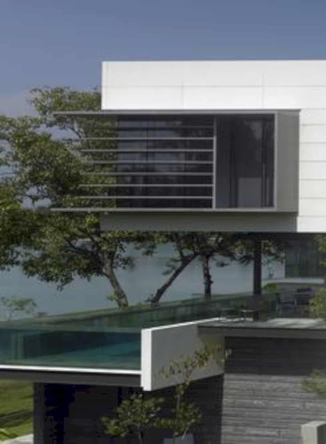 Lakeshore View House A Modern Two Story Home With Suspended Pool 4