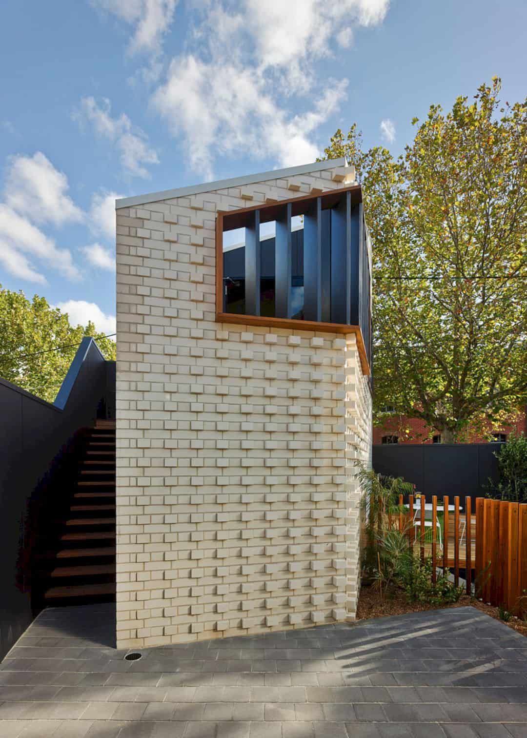 Little Brick Studio A Tight Space Residence That Engages At The Urban Scale Of Abbotsfords Busy Street 14