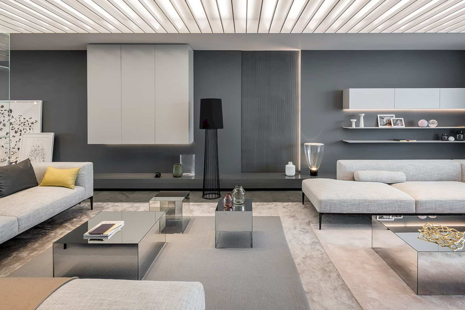 Shades Of Grey An Apartment Demonstration With Modern Interior And Dark Grey Theme