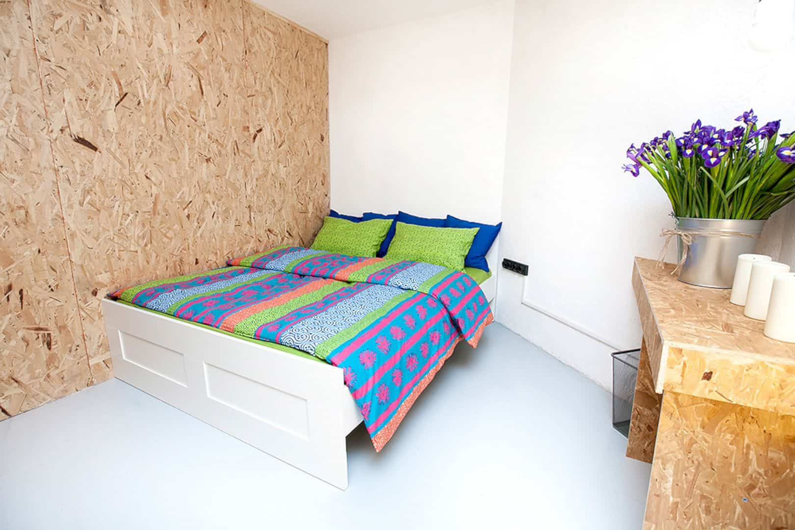 Simple Hostel A Colorful Hostel With Simple Interior And