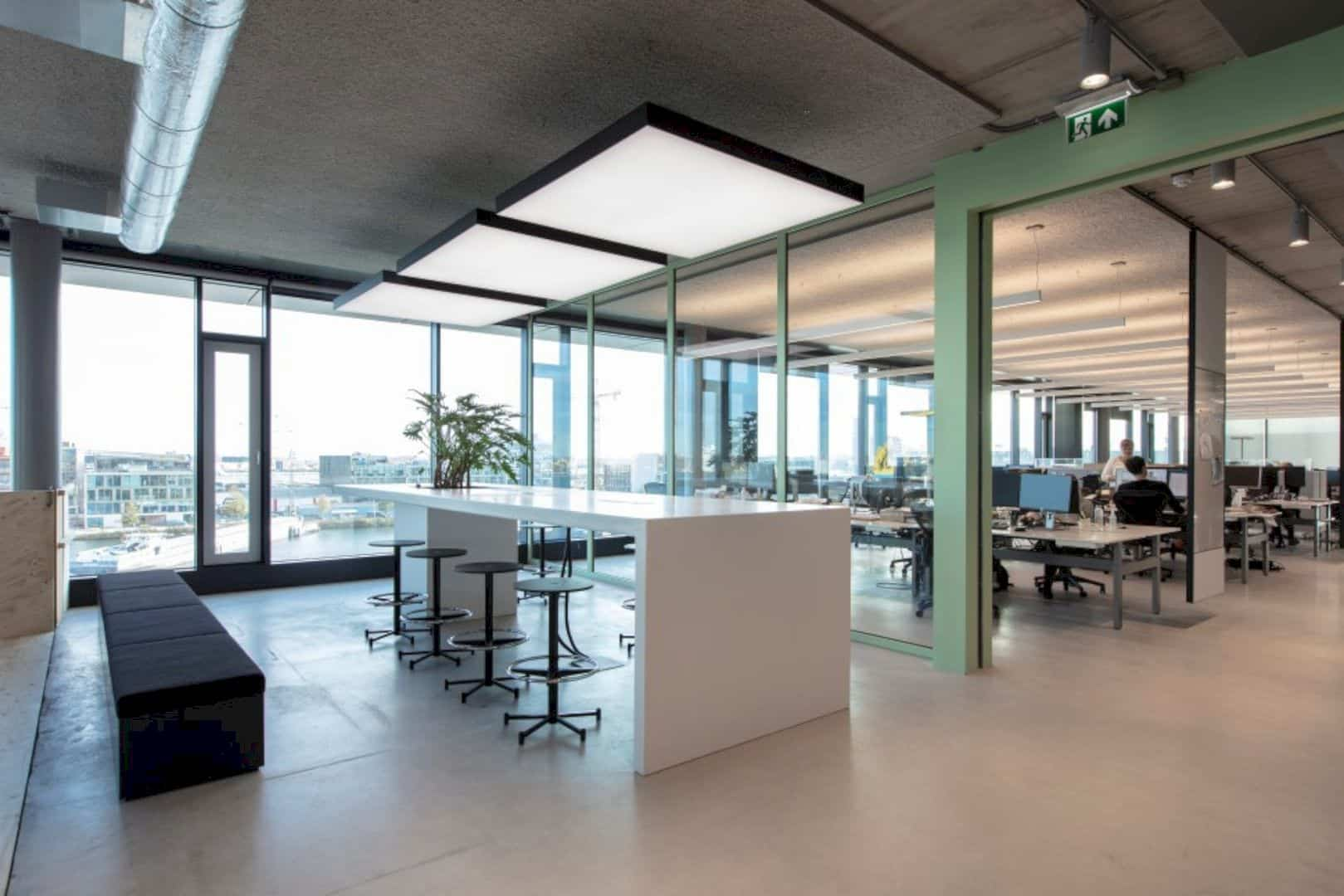 Rijnboutt: An Office Interior with Energizing Atmosphere in A Transparent New Building