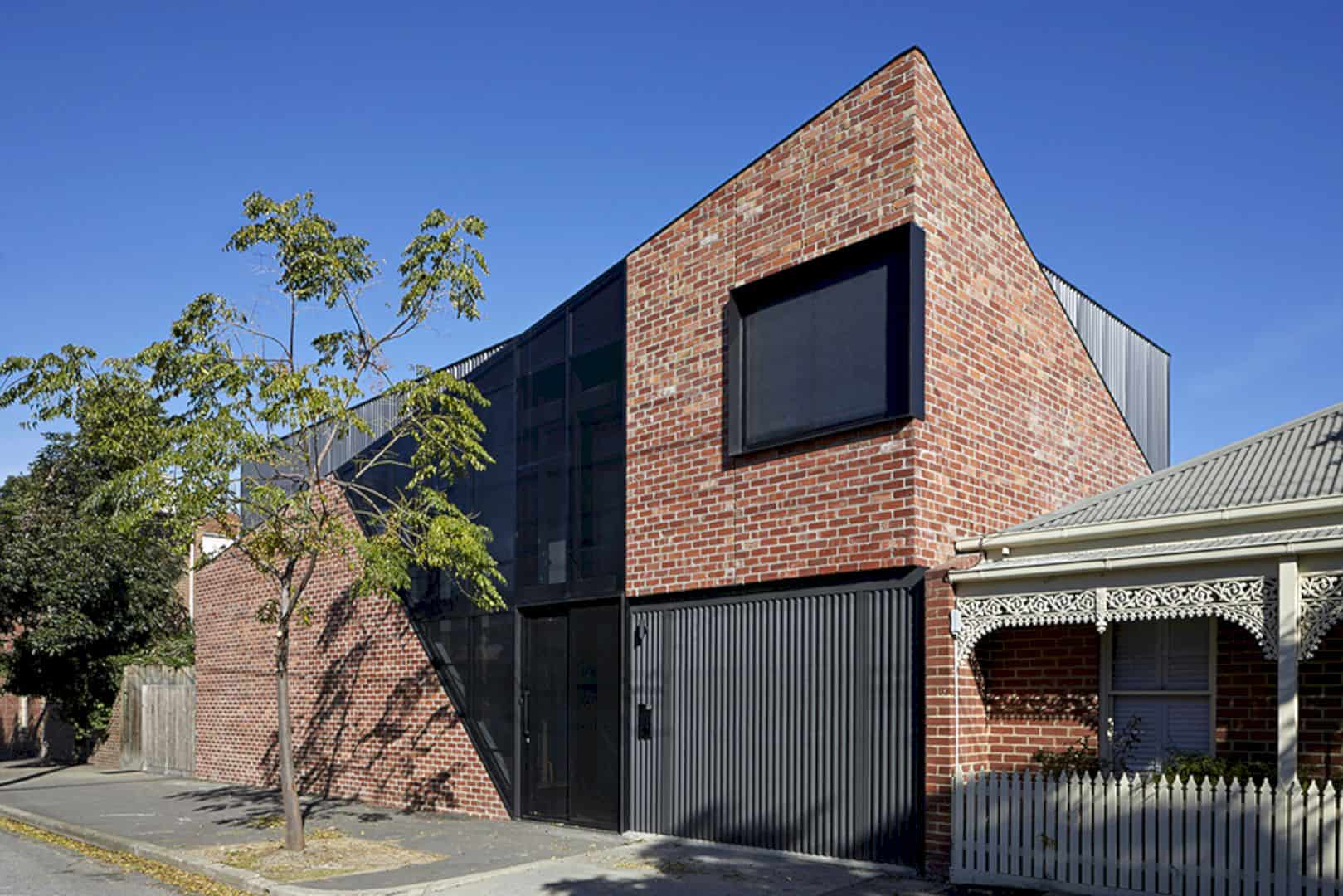 Boundary St House, Port Melbourne: A Striking, New House with Recycled Brickwork and Strong, Angular Lines