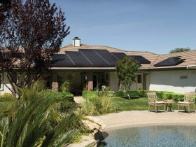Black Solar Panels On Brown Roof 2850347