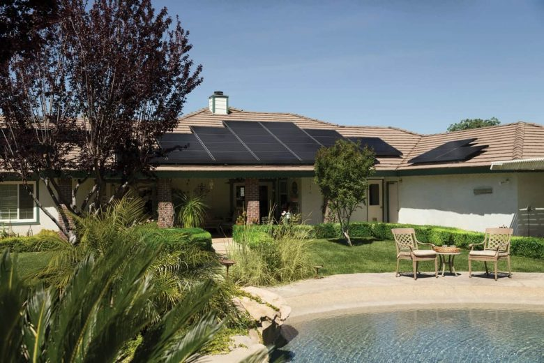 Black Solar Panels On Brown Roof 2850347