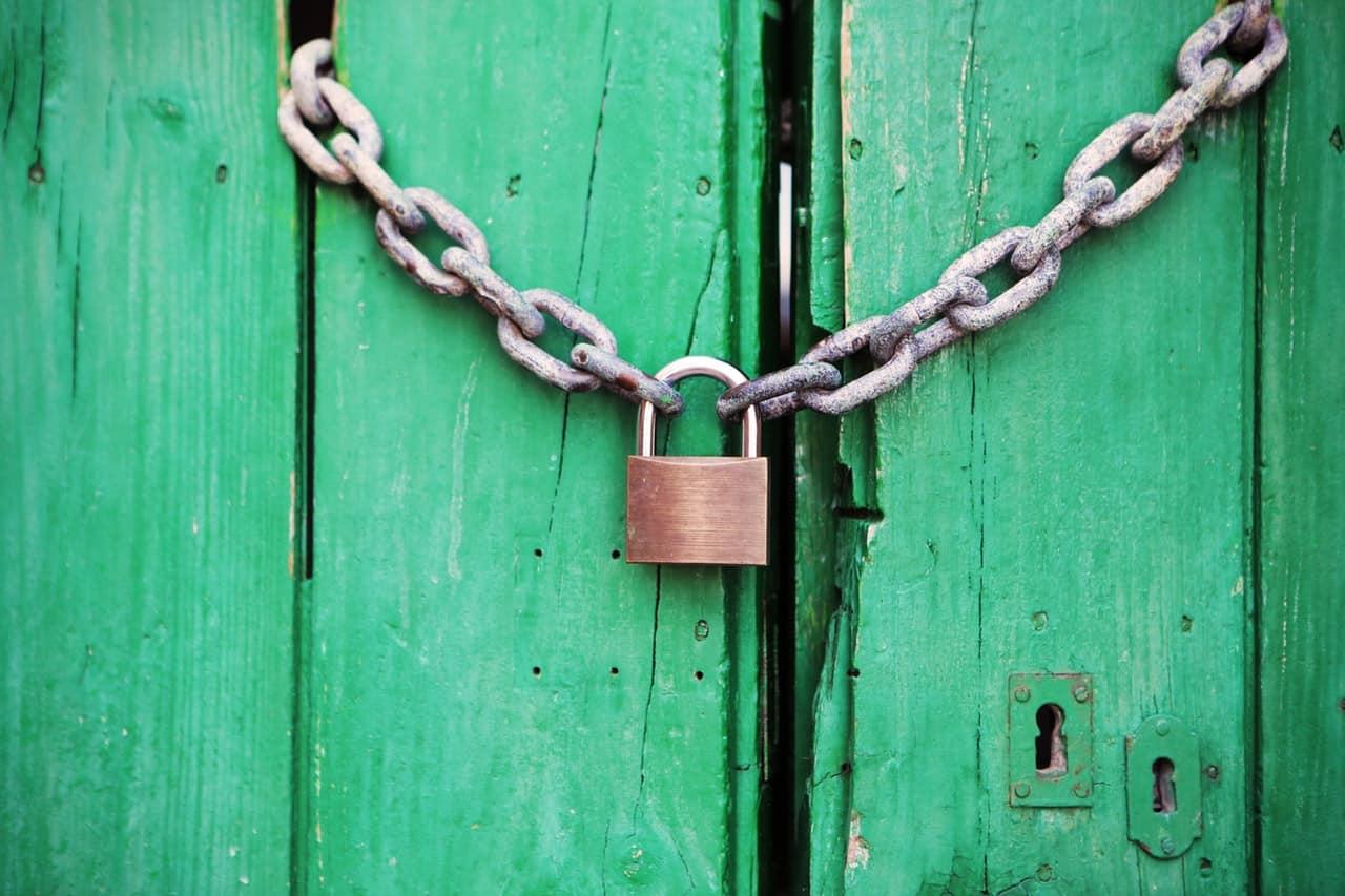Door Green Closed Lock 4291