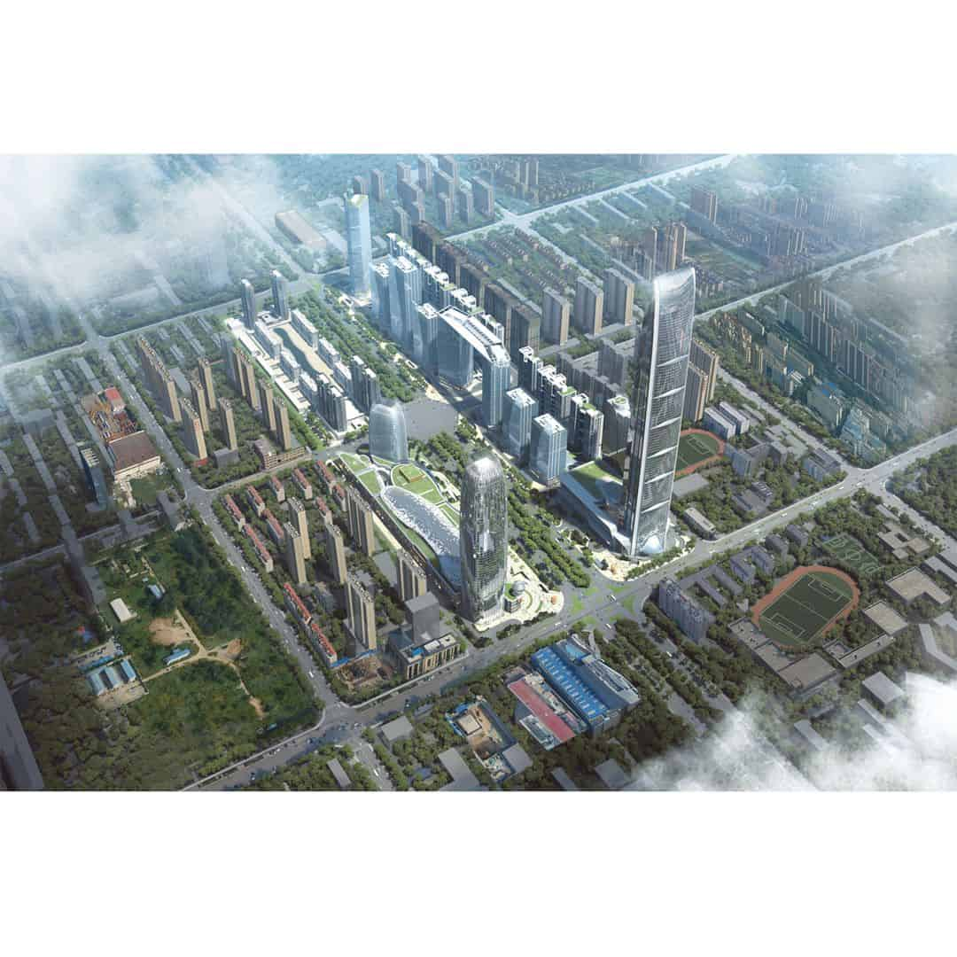 Tianshan Gate Of The World Large Scale Urban Mixed Use Project By Aedas 4