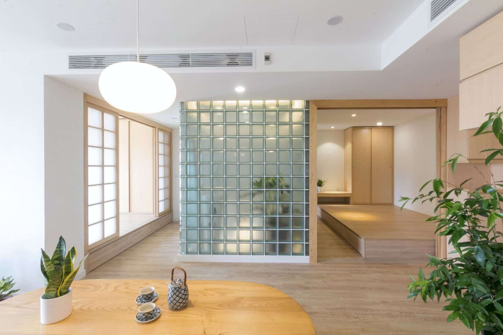 Glass Block Renovation Of An Apartment Space To Create A Light Filled Atmosphere